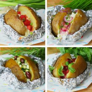 Baked Potato 4 Ways (via Einfach Tasty)
