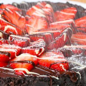 Easy Chocolate And Strawberry Tart