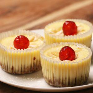 Mini Cherry Bakewell Cheesecakes