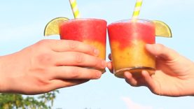 Raspberry And Peach Wine Slushie