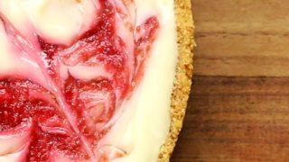 Raspberry Ripple Cheesecake (In 3 Easy Steps)