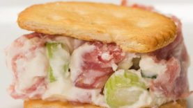 Salami And Cream Cheese Roll-Up