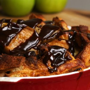 Toffee Apple Bread Pudding